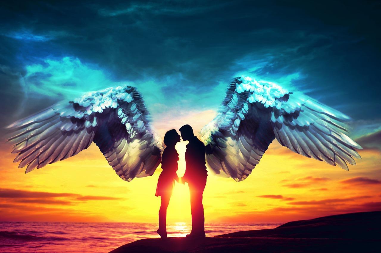 Открытка для, картинки ангел любви