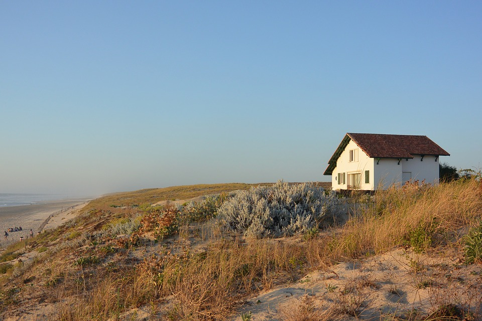 Plage, Maison De Vacances, Nature, Seul, Dune, Sable