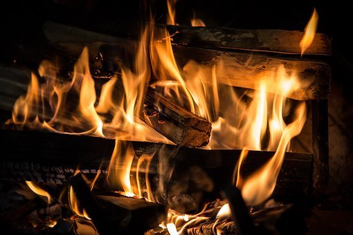 Fire, Fireplace, Flame, Hot, Heat