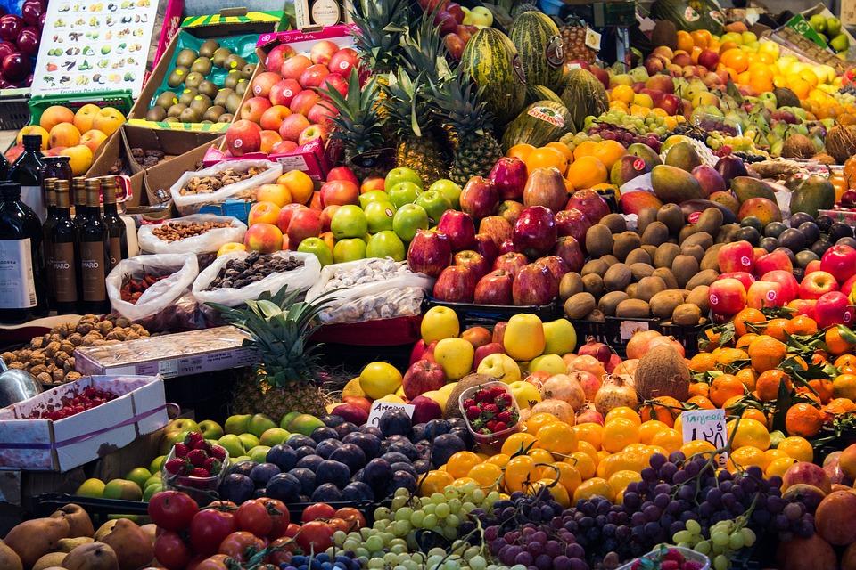 Morocco, Market, Fruit, Vegetables, Mediterranean Diet