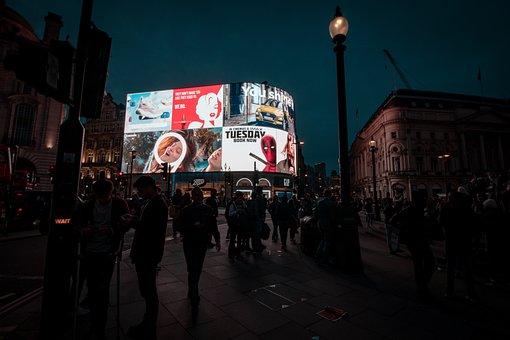 London, Neon Sign, Advertising, Human