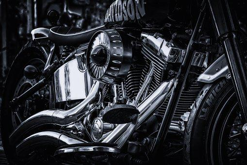 Harley Davidson, Motorcycle, Chrome