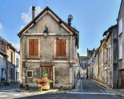 House, Lane, Street, Old, Facade