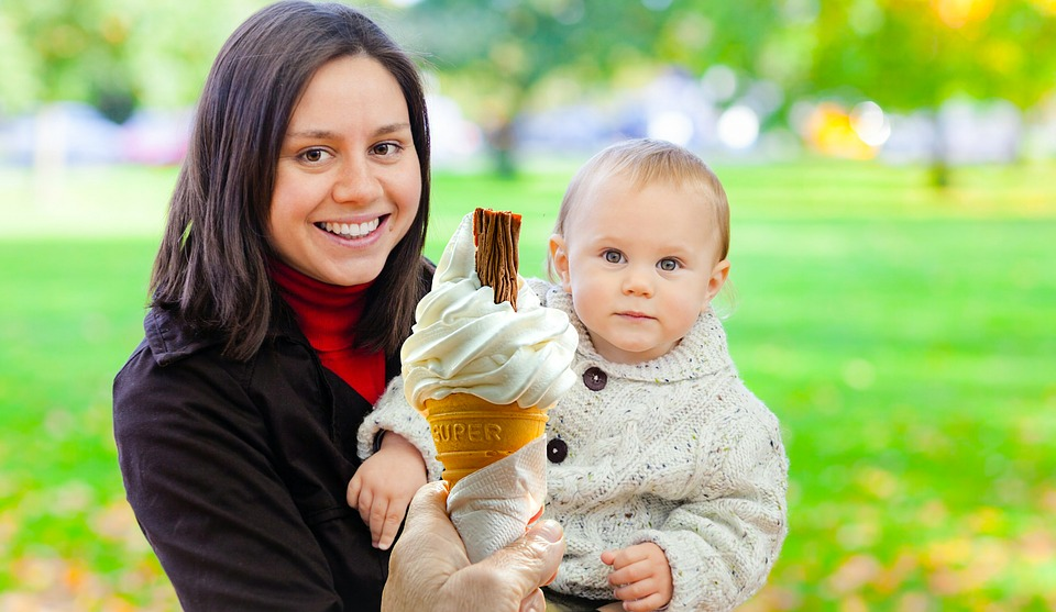 Family, Ice Cream, Baby, Boy, Caucasian, Child