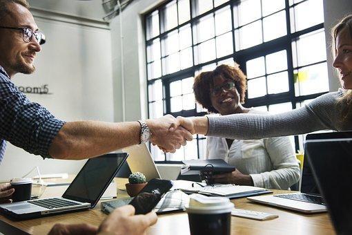 Achievement, African American, Business, Handshake