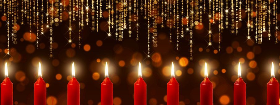 Candles, Bokeh, Specular Highlights
