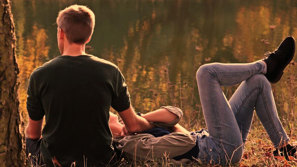 Pair, Autumn, Evening Sun, Nature, Human, Love, Man