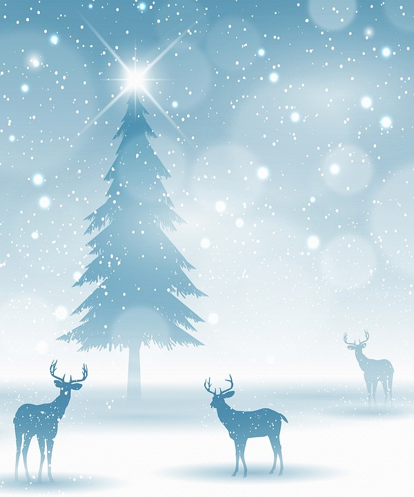 Christmas Background Images Free.Deer In Snow Christmas Background Free Image On Pixabay