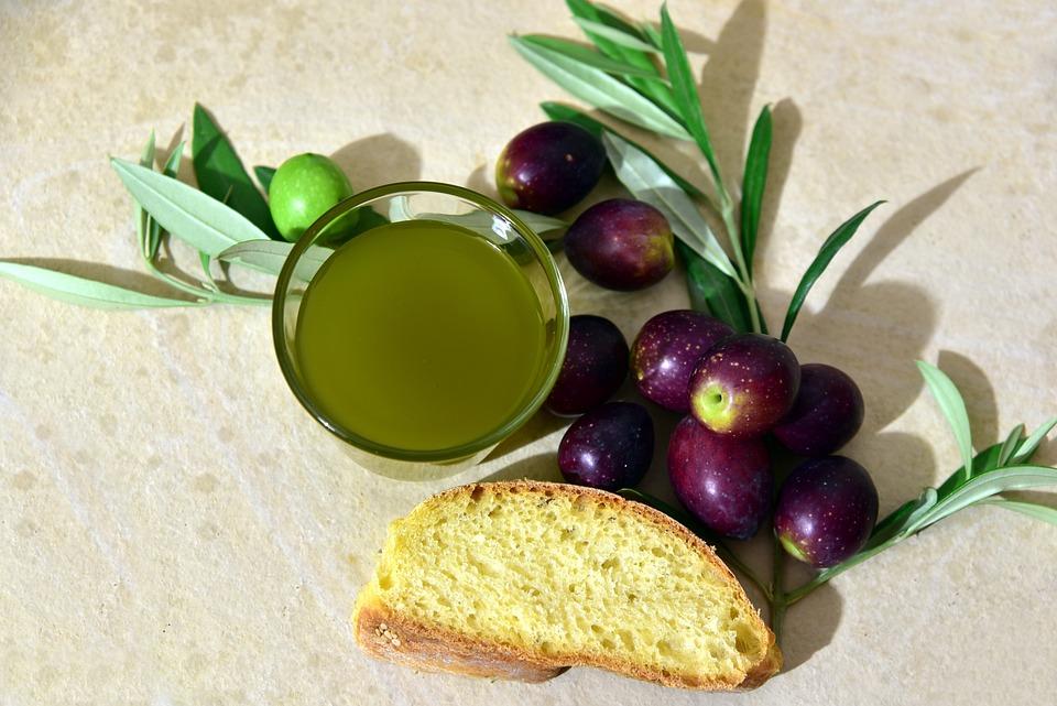 Olio D'Oliva, Olive, Pane, Ramo D'Olivo, Mediterraneo