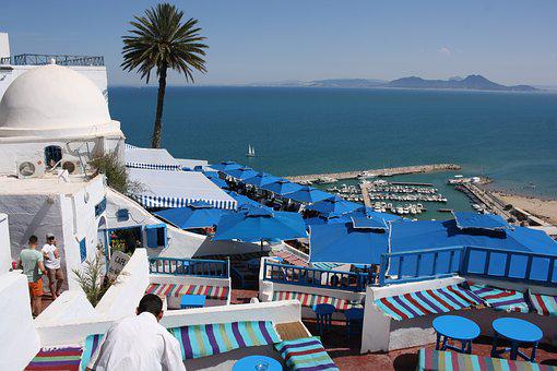 Sidi Bou Said - blue and white buildings