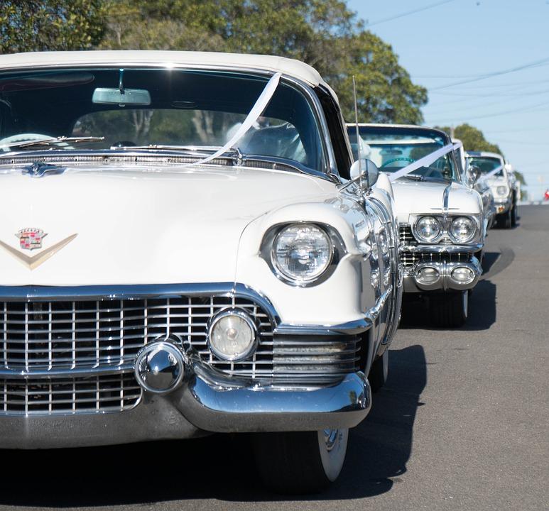 White Cadillac Car