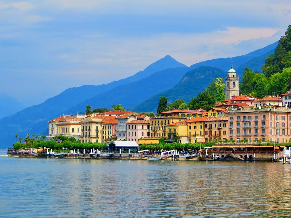 Italia, Bellagio, Porta, Acqua, Lago Di Como