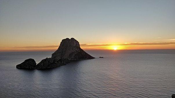 Ibiza, Es Vedra, Sunset, Spain, Eivissa