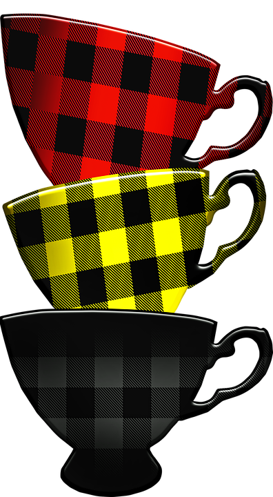 Buffalo Plaid Stacked Cups Coffee Free Image On Pixabay