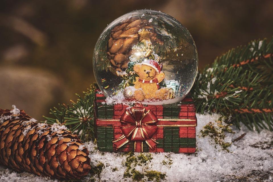 Boże Narodzenie, Snow Ball, Śnieg, Zima, Dekoracji