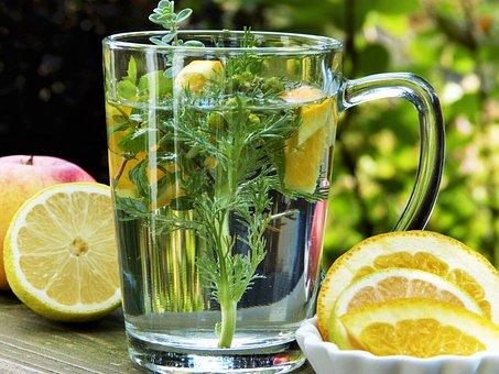 Tee, Hierbas, Manzanilla, Frutas, Limón