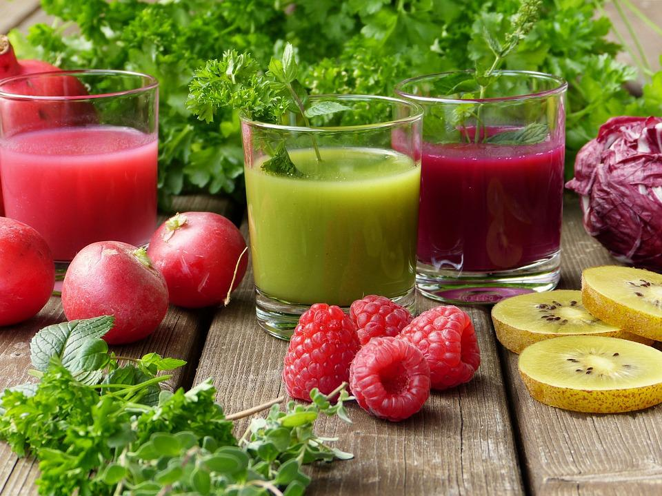 Le Erbe, Frullati, Succo, Verdure, Frutta, Fresco
