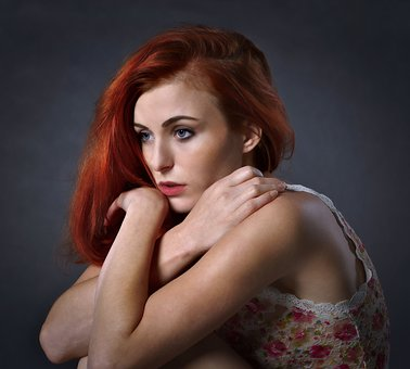 Girl, Woman, Sadness, Portrait