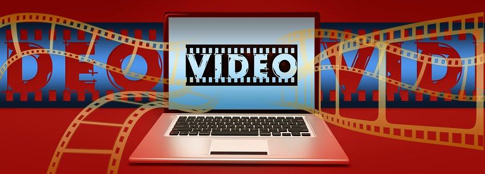 Video, Film, Filmstrip, Laptop, Online