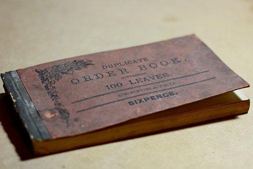 Order Book, Old, Book, Ledger, Vintage