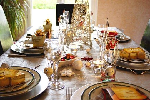 Table, Christmas, Xmas, Noel, Repas