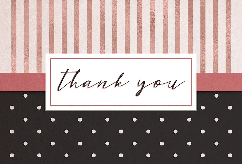 Thank You Card Free Image On Pixabay