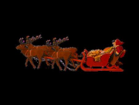 Christmas, Santa Claus, Christmas Sleigh
