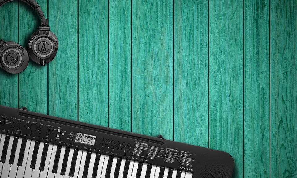 Müzik Arka Plan Kulaklık Klavye Pixabayde ücretsiz Fotoğraf