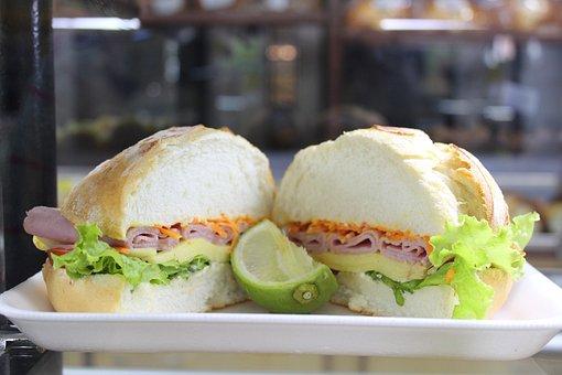 Sandwich, Turkey Breast, Lettuce, Bread
