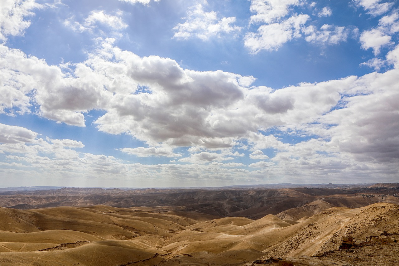 горизонта вдоль пустыня и небо фотобанк работу
