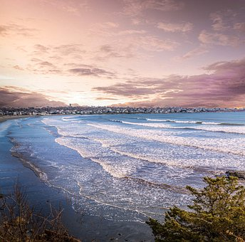 Ocean, Rhode Island, Newport, Beach, Sky