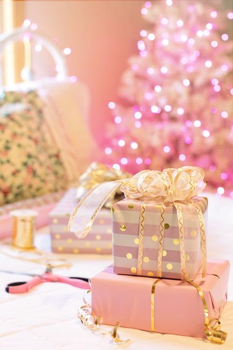 Albero Di Natale Rosa.Natale Rosa Presenta Albero Di Foto Gratis Su Pixabay