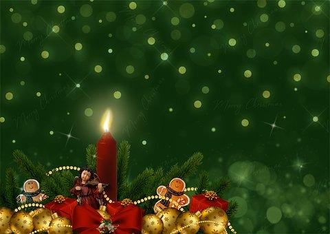Vánoční, Svíčka, Holly, Perník