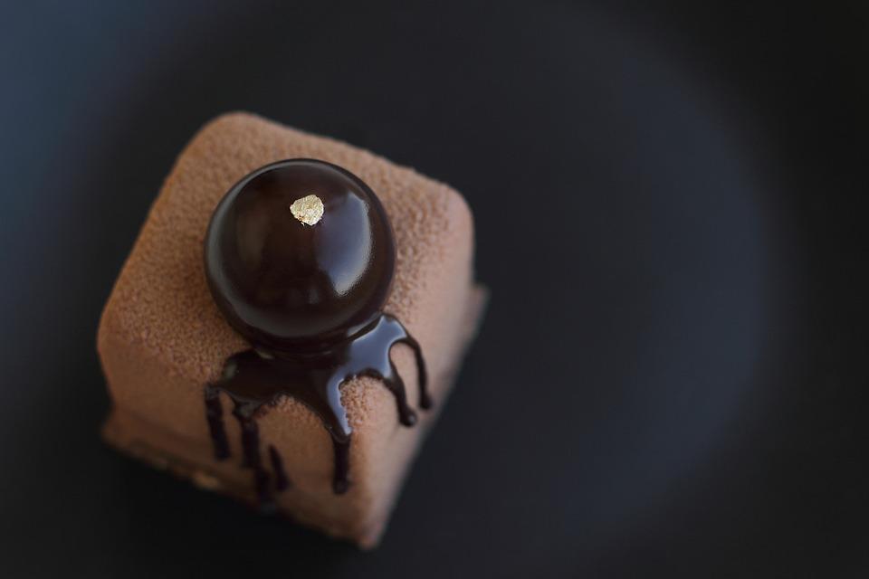 Kuchen, Schokolade, Dessert, Platte, Braun, Teig