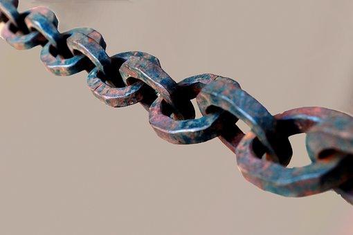 チェーン, 鋼, 金属, 接続, 一緒, チェーンのリンク, 金属リング
