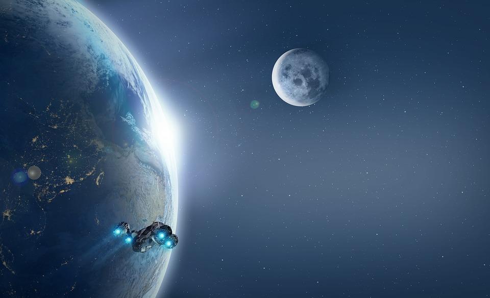в пределах космический корабль во время стартует
