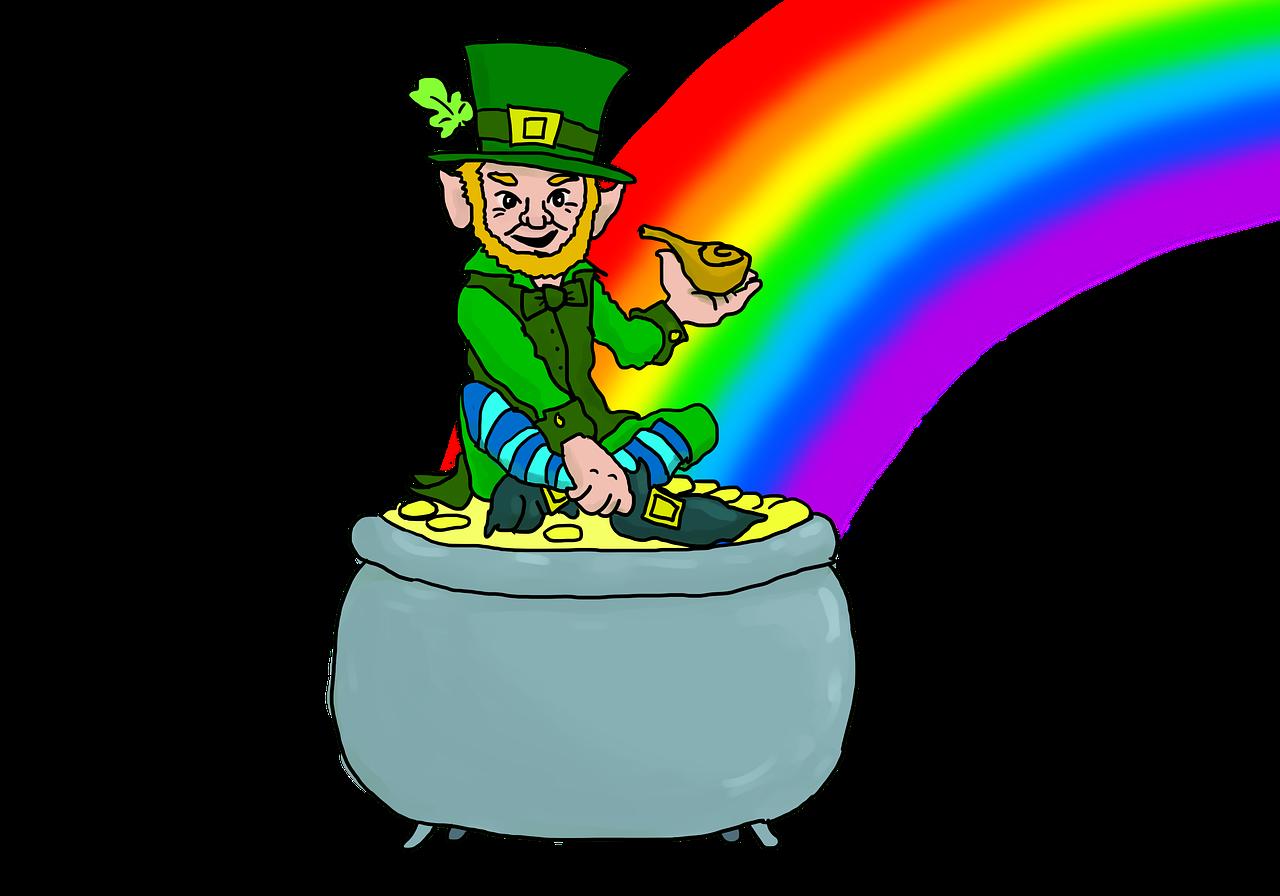 Leprechaun and his pot of gold