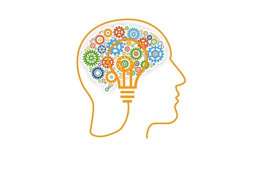 Brain, Gears, Concept, Skull, Idea