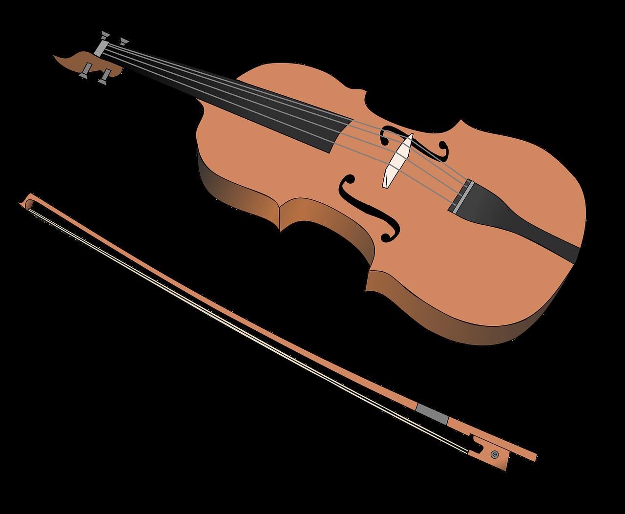 Картинка нарисованная скрипка