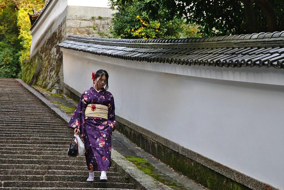 京都, 着物, 日本, 祇園, 女の子