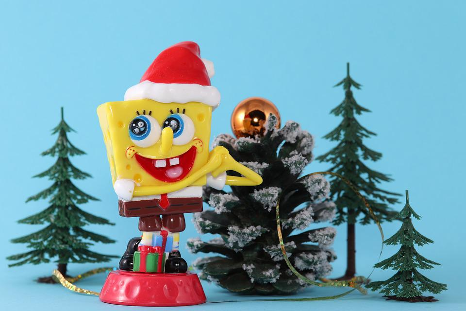 Spongebob, Sponge Head, Christmas, Paid, Santa Hat