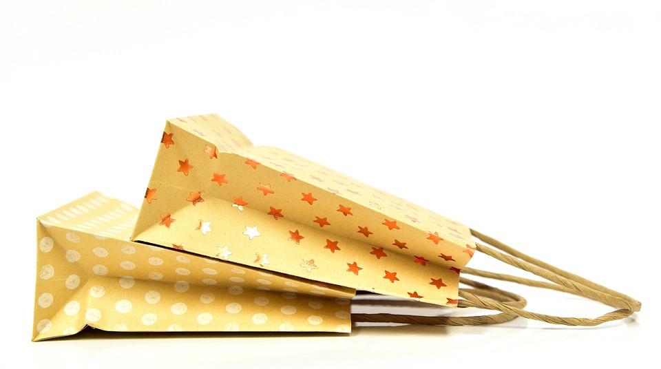 バッグ, 紙袋, 購入, ショッピングバッグ, 空, 懸念, 塞ぎます, 包装, 販売, ショップ
