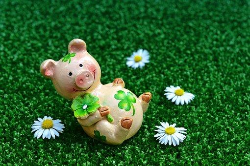 Lucky Pig, Figures, Cute, Luck