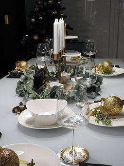 Dining Table, Christmas, The Ceremony