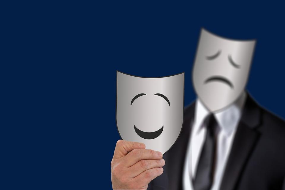Maske, Cephe, Üzgün, Gülümseme, Yüz, Koruma, Kimlik