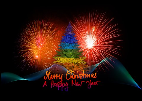 Christmas, New Year'S Day, Fyrverkeri