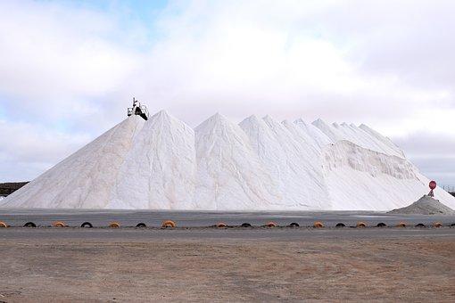 Salt, Saltpan, Walvisbay, Namibia, White