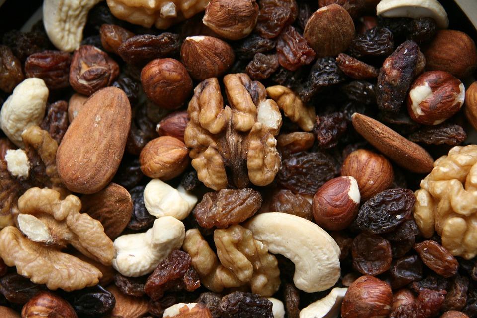 Nuts, Food, Trail Mix, Raisins, Cashew, Hazelnuts