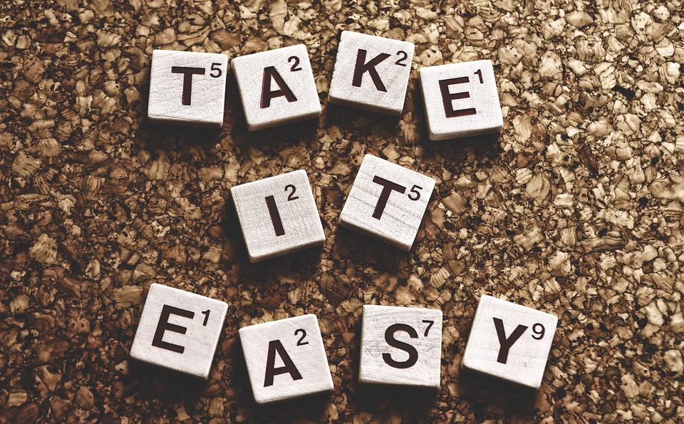 のんびり, 心配なし, 奨励します, 単語, 文字, テキスト, モチベーション, ライブ, 勇気