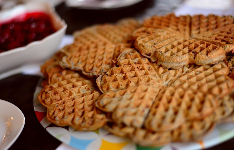 Waffles Pastries, Waffle Heart, Bake, Eat, Delicious